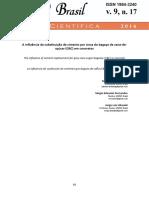 Revista Científica - Substituição Parcial Do Cimento Por Cinza de Bagaço de Cana