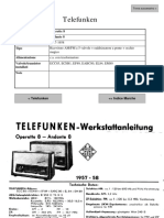 electronic scheme for Telefunken Andante 8