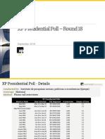 Pesquisa XP/Ipespe 21-09-2018