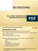 Degradation and Preservation Methods of Timber Structures