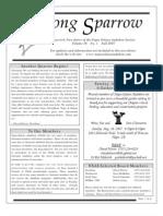 Fall 2007 Song Sparrow Newsletter, Napa-Solano Audubon Society