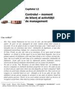 12.Controlul – moment de bilant al activitatii de management