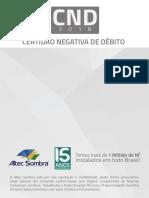 ALTEC SOMBRA - COBERTURAS E SOMBREADORES - CERTIDÃO NEGATIVA DE DÉBITOS