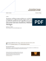 Analysis of Depositional Facies and Geological Controls on Reservoir Quality in Lower-Middle Devonian Sylvania Sandstone, Midland County, Michigan
