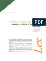 Principio y Derechos Arbitraje