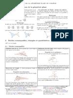 Resume Geometrie College