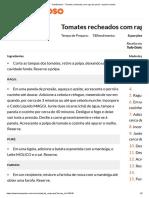 Tomates Recheados Com Ragu de Pernil