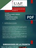 Informe de Elaboración de Las Probetas