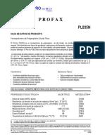 Hoja de Datos de Producto de Profax Indelpro