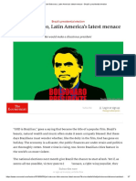 Jair Bolsonaro, Latin America's latest menace - Brazil's presidential election.pdf