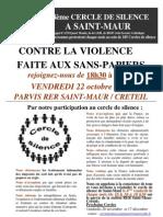 Participez au 14 ème cercle de silence - Saint-Maur le 24-…