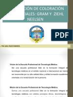 coloraciones diferenciales , Gram y Ziehl Neelzen 2018.pptx