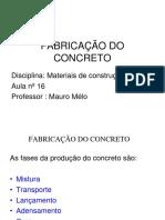 Materiais de Construção - Fabricação Do Concreto