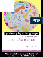 Christopher Norris Philosophy of Language and the Challenge to Scientific Realism
