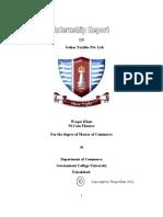 nternship report on Gohar Textlle Pvt. Ltd.
