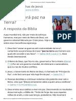Como Haverá Paz Na Terra_ _ Perguntas Bíblicas