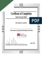 interviewing skills certificate - 2 hours