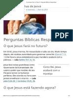 O Que Jesus Fará No Futuro_ _ Perguntas Bíblicas Respondidas