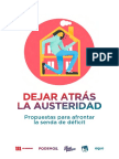 'Dejar Atrás La Austeridad', Propuesta de Podemos Al Gobierno