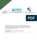 Fundamento ético de las políticas públicas en desarrollo humano