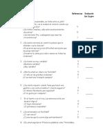 Cuestionario Del Caracter
