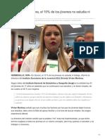 08-09-2018-AUDIO  En Sonora el 10 de los jóvenes no estudia ni trabaja ISJ - Expreso