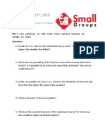 Small Group Question 9.23.18