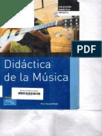 Portada libro Didactica de la musica
