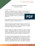 Interrelacion Entre La Propiedad Industrial y El Derecho de Autor