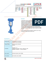 High Pressure Cage Guided Control Valve