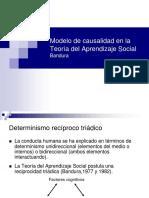 Modelo de Causalidad en La Teoría Del Aprendizaje Social -Bandura