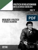 Ideologia_politica_y_otros_escritos - Mariátegui -Política Revolucionaria Peru