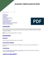 Cálculo de Atenuación Max. Para Links de F.O.