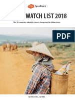 World Watch List 2018