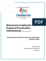 Manual programa psicoeducativo individualizado de  Mayerlin Aparcedo