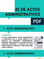 Clases de Actos Administratibos