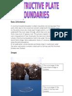 Basic Information on Consrtuctive Boundaries[1]