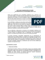 Manual de Elaboración y Registro Del Sílabo en La Plataforma