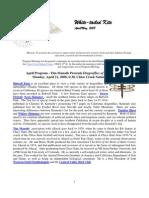 April 2008 White Tailed Kite Newsletter, Altacal Audubon Society