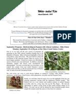 August 2008 White Tailed Kite Newsletter, Altacal Audubon Society