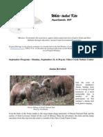 August 2009 White Tailed Kite Newsletter, Altacal Audubon Society