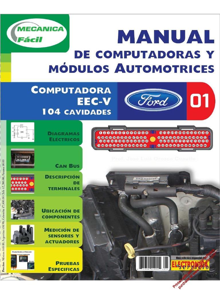 01 ford computadora eec-v 104 cavidades pdf