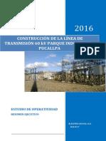 09. LT 60 KV Parque Industrial - Pucallpa