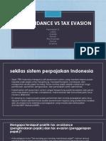 FG5 - Tax Evation vs Tax Avoidance