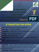Etiquetas en HTML 2
