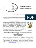 August 2010 White Tailed Kite Newsletter, Altacal Audubon Society