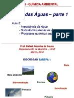 Aula 2 Química Das Aguas Parte 1 1S2018