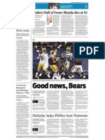 Sports- Good news, Bears
