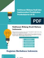 ppt1. Kegiatan Belajar 3 (Kekhasan Bidang Studi dan Implementasi Pendekatan Pembelajaran di SD).pptx