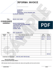 Performa Invoice Sample